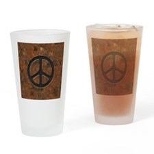 rusty-peace-LG Drinking Glass