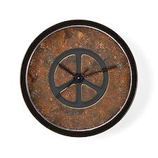 rusty-peace-LG Wall Clock