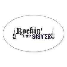 Rockin Little Sister Oval Decal
