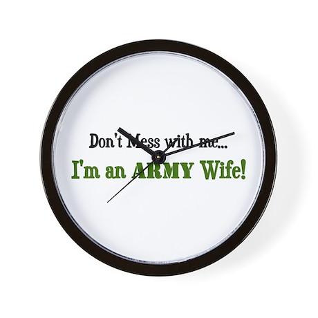 im an army wife Wall Clock