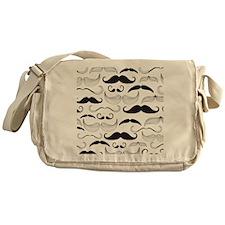 Mustache Black Messenger Bag