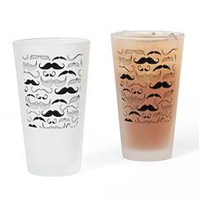 Mustache Black Drinking Glass