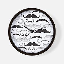 Mustache Black Wall Clock