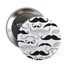 "Mustache Black 2.25"" Button"