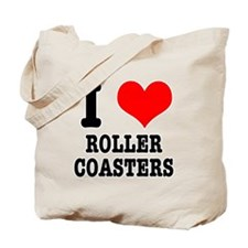 I Heart (Love) Roller Coasters Tote Bag