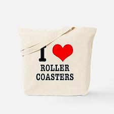 I Heart (Love) Roller Coasters Tote Bag