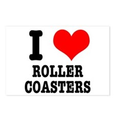 I Heart (Love) Roller Coasters Postcards (Package