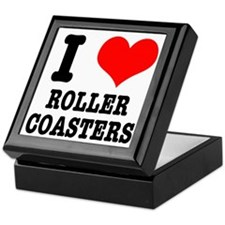 I Heart (Love) Roller Coasters Keepsake Box
