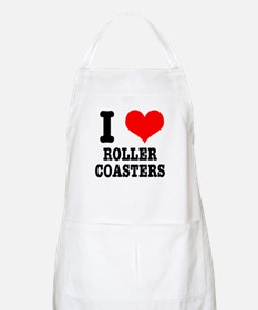 I Heart (Love) Roller Coasters BBQ Apron