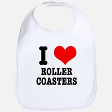 I Heart (Love) Roller Coasters Bib