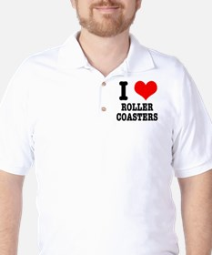 I Heart (Love) Roller Coasters T-Shirt