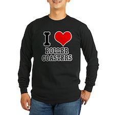 I Heart (Love) Roller Coasters T