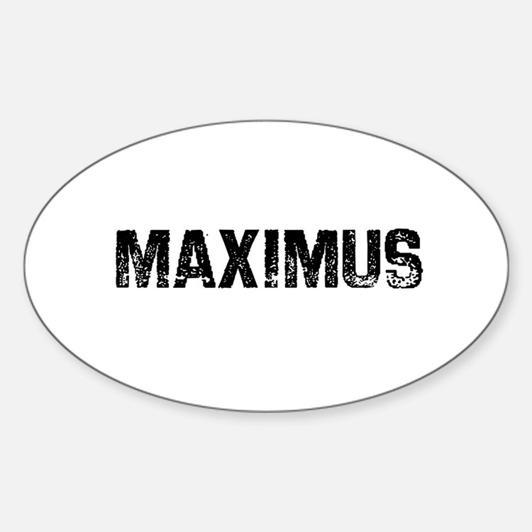 Maximus Oval Decal