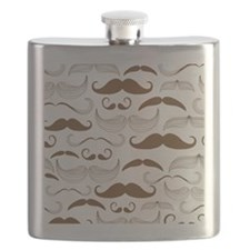 Mustache Brown Flask
