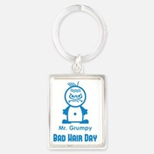 MR GRUMPY moody angry face bad h Portrait Keychain