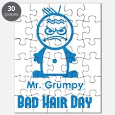 MR GRUMPY moody angry face bad hair day fun Puzzle