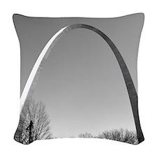 STL Arch Woven Throw Pillow