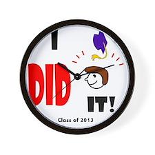 I did it-sh br Wall Clock
