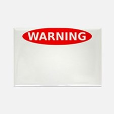 May Contain Champagne Warning Rectangle Magnet