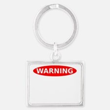 May Contain Champagne Warning Landscape Keychain
