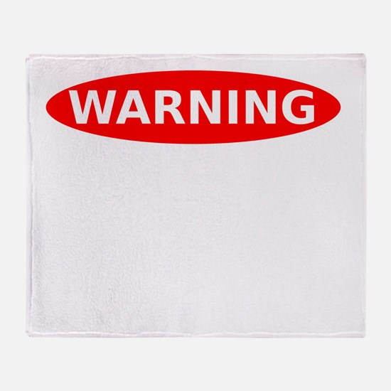 May Contain Champagne Warning Throw Blanket