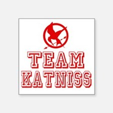 "Hunger Games Team Katniss Square Sticker 3"" x 3"""