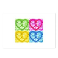 Pop Peace Hearts Postcards (Package of 8)