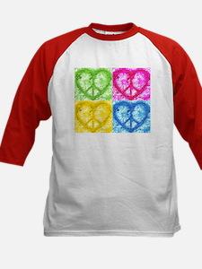 Pop Peace Hearts Kids Baseball Jersey