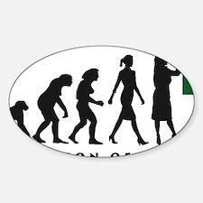 evolution of woman female teacher Decal