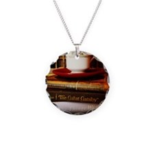 Read, Sip, Love Necklace Circle Charm