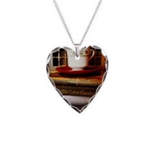 Read, Sip, Love Necklace Heart Charm