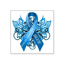 "I Wear Blue for my Granddau Square Sticker 3"" x 3"""
