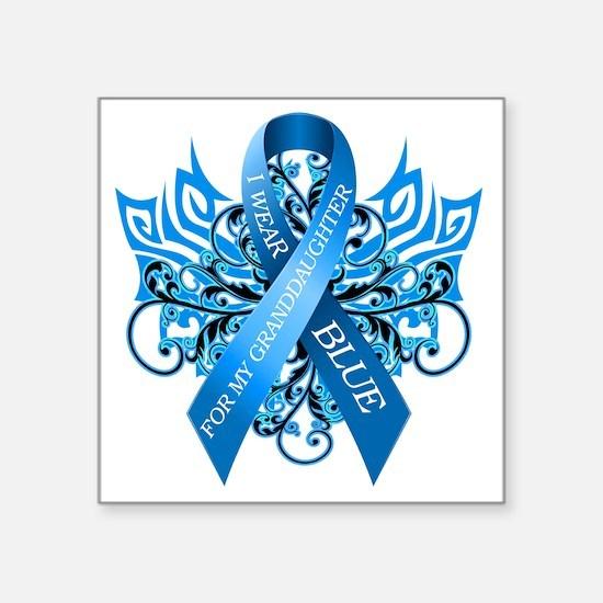 """I Wear Blue for my Granddau Square Sticker 3"""" x 3"""""""