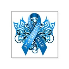 """I Wear Blue for my Dad Square Sticker 3"""" x 3"""""""