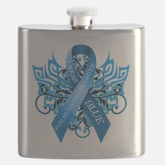 I Wear Blue for my Granddaughter Flask