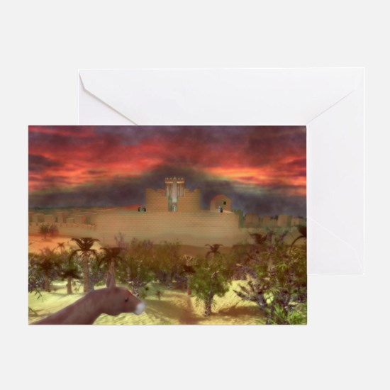 City on a Hill, Image One Greeting Card