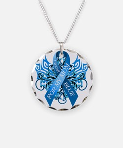 I Wear Blue for my Mom Necklace