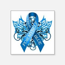 "I Wear Blue for Myself Square Sticker 3"" x 3"""