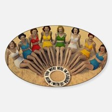 Retro Beach Beauties Decal