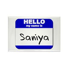 hello my name is saniya Rectangle Magnet