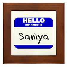 hello my name is saniya  Framed Tile