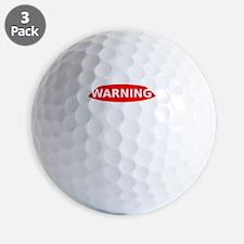 May Contain Scotch Warning Golf Ball