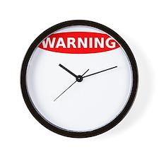 May Contain Scotch Warning Wall Clock