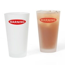 May Contain Scotch Warning Drinking Glass