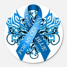 I Wear Blue for my Cousin Round Car Magnet