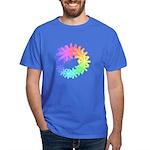 Day-Glo Flowers Dark T-Shirt