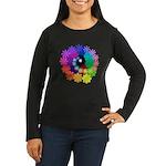 Florescent Art Women's Long Sleeve Dark T-Shirt