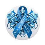 I Wear Blue for my Sister Round Ornament