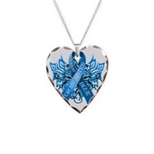 I Wear Blue for my Sister Necklace Heart Charm