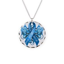 I Wear Blue for my Sister Necklace Circle Charm